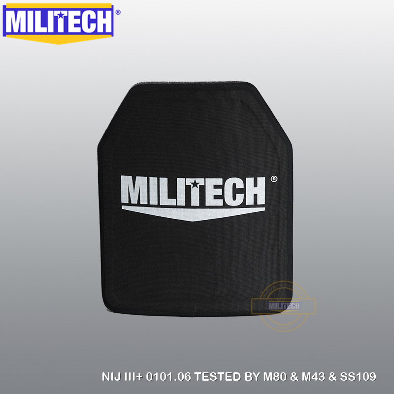 MILITECH Alumina & PE NIJ III+ Bulletproof Plate NIJ Level 3+ Stand Alone Ballistic Panel NIJ Level 3 AK47 & SS109 & M80 Panel