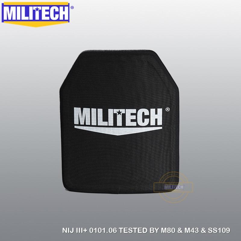 MILITECH Alumina & PE NIJ III+ Bulletproof Plate NIJ Level 3+ Stand Alone Ballistic Panel NIJ Level 3 AK47 & SS109 & M80 Panel