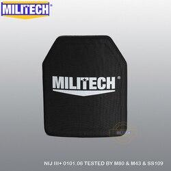 MILITECH Alumina & PE NIJ III + Kugelsichere Platte NIJ Level 3 + Stand Alone Ballistic Panel NIJ level 3 AK47 & SS109 & M80 Panel