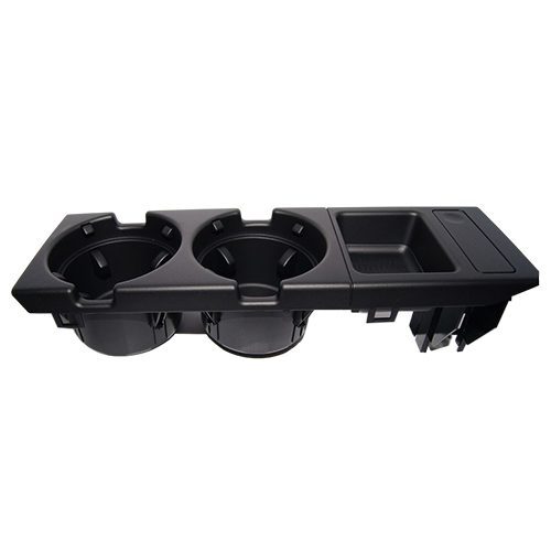 Double hole car front center console cup rack / change box for BMW E46 black