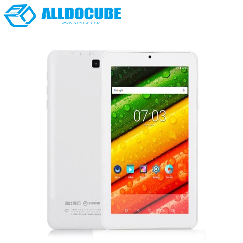 ALLDOCUBE C1 7inch Tablets PC 1024*600 IPS Android7.1 RK3126 Quad Core 1GB Ram 8GB Rom Bluetooth Dual Camera mk808b rk3066 dual core android 4 2 mini pc w 8gb rom 1gb ram bluetooth rii i8 air mouse