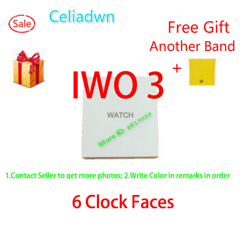 New 1:1 42mm Smart Watch IWO 3 Heart Rate WhatsApp Smartwatch IWO 2 Upgrade Bluetooth Notification Music Watch For iOS Android celiadwn bluetooth smart watch iwo 4 smartwatch 42mm smaller iwo 1 version case for ios android phone vs iwo 3