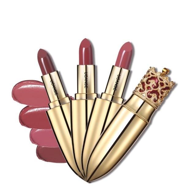 UCANBE Sexy Luxury Color Lipstick Crown Velvet Matte Lipstick Makeup Nude Long Lasting Pigment Women Beauty Cosmetics