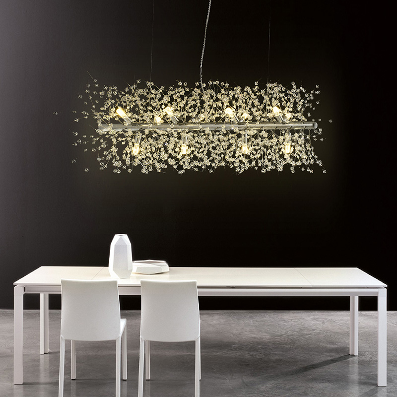 Nordic modern minimalist living room crystal chandeliers American creative art bar led warm bedroom lamps led ceiling lighting nordic restaurant chandeliers american modern minimalist personality warm living room chandeliers postmodern bedroom round lamps