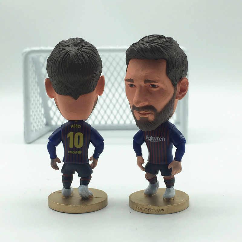 Soccerwe Футбол супер звезда BC 10 Lionel кукла Месси статуя портрет синий красный