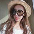 Misturar óculos de sol vento Senhoras Preto Rodada Óculos De Sol Das Mulheres Moda Óculos de Sol Do Vintage Feminino Marca Designer Shades Retro Eyeswear