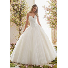 Custom Made Vestido Novia White/Ivory Tulle Applique Spaghetti Straps Lace Wedding Dresses Robe Mariage Vestidos De Noiva