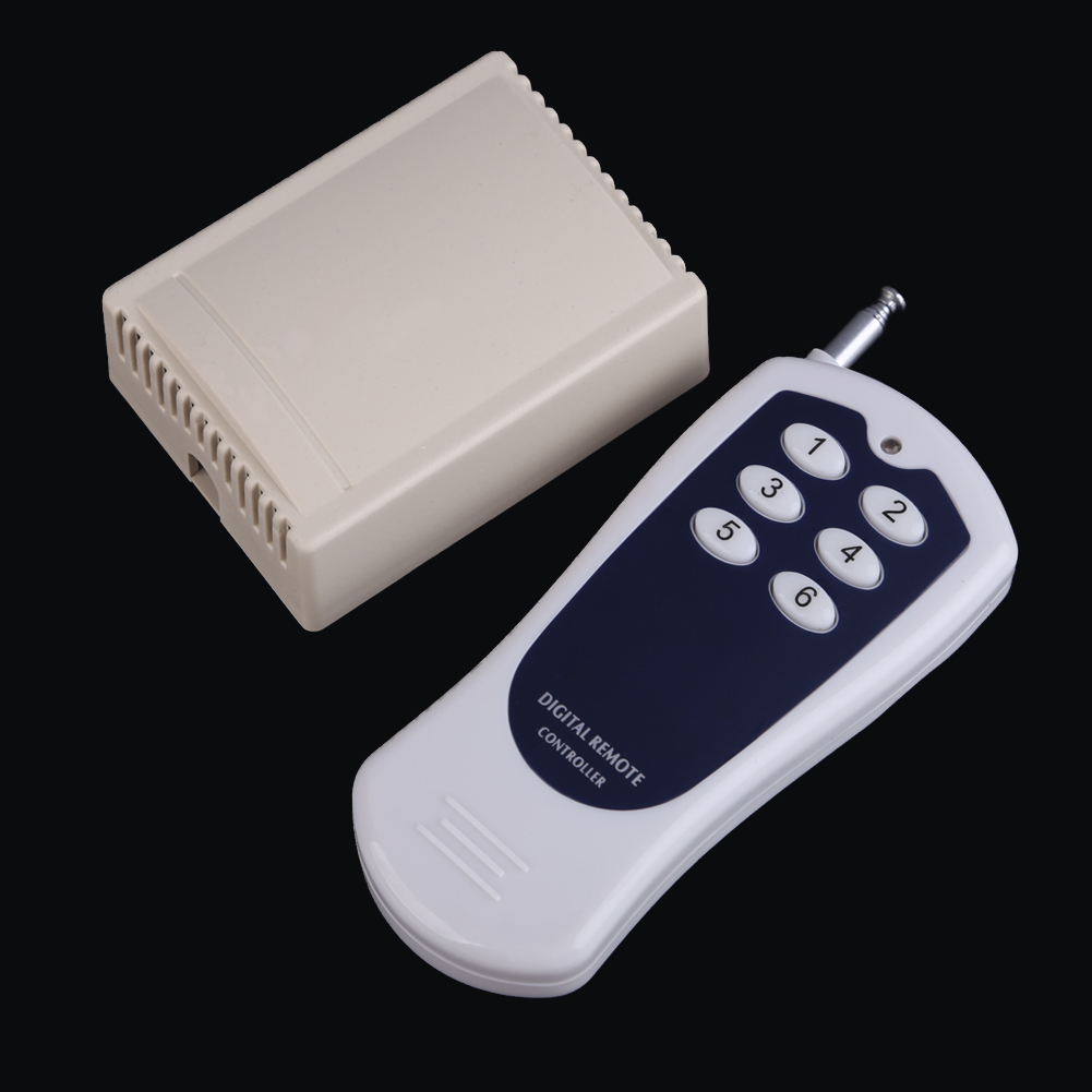 DC12V 6 CH Buttons 315MHZ/433MHZ Wireless RF Remote Control Switch Transmitter Remote Control Receiver