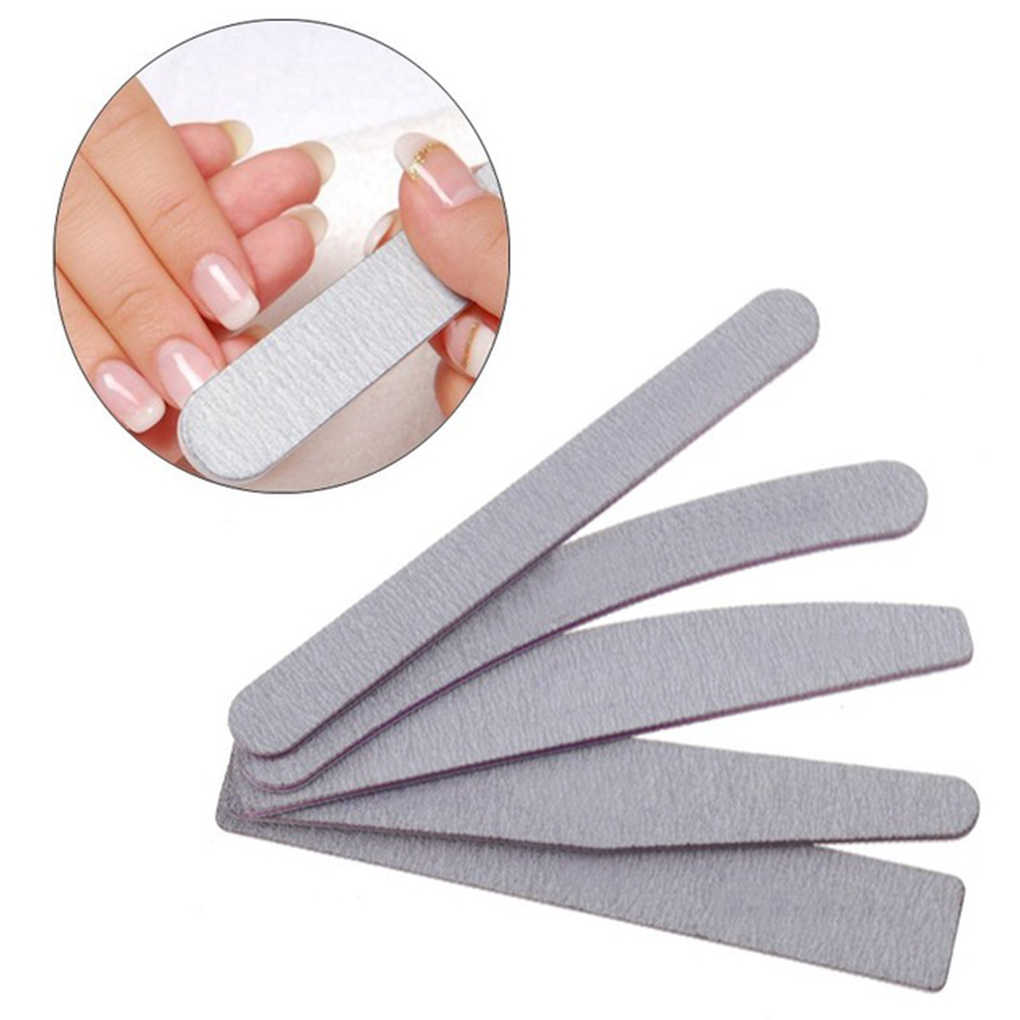 5PCS/Set Half Moon Sanding Nail File Suit Polished Nail Files Set Manicure Tools Nail Art Tools