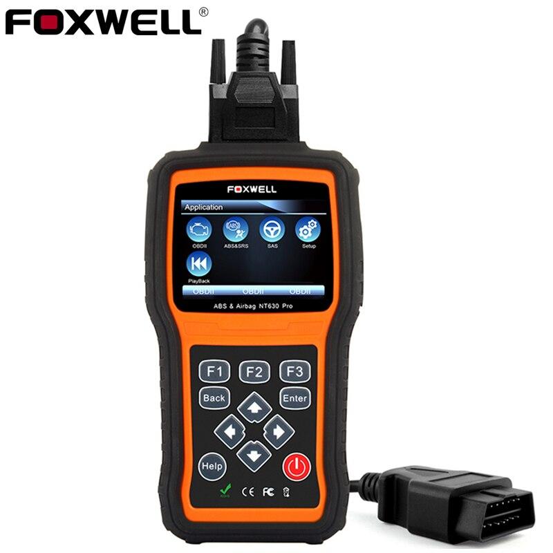 Foxwell NT630 Pro OBD2 Car Diagnostic Scan Tool Engine Check ABS SRS Airbag Crash Data Reset SAS OBD 2 Auto Automotive Scanner