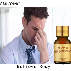 Natural Aromatherapy Essential Oils contain Ginger Eucalyptus Safflower good for Muscle Pain Sprain Anti Stress Massage Oil X55