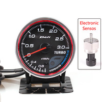 Defi Advance CR 3 Bar Boost Gauge 2.5 Inch 60mm 7 Colors 1 3 Bar Turbo Gauge With Electronic Boost Sensor