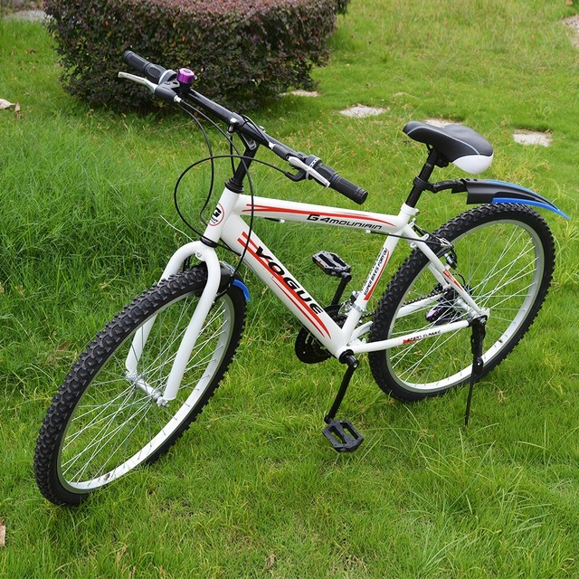 c842beaa5 MTB Bicicleta 26 Polegada 18 Adolescente Alunos do Dobro da Velocidade V  Freio Mountain Bike de Aço Alto Carbono bicicleta Entrega Rússia