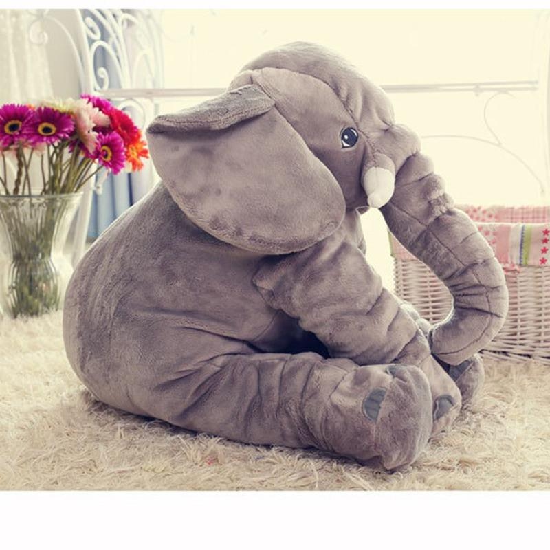 Cartoon 40cm Large Plush Elephant Toy Kids Sleeping Back Cushion stuffed Pillow Elephant Doll Baby Doll Birthday Gift for Kids large plush animal elephant stuffed toy soft elephant sleeping pillow for baby