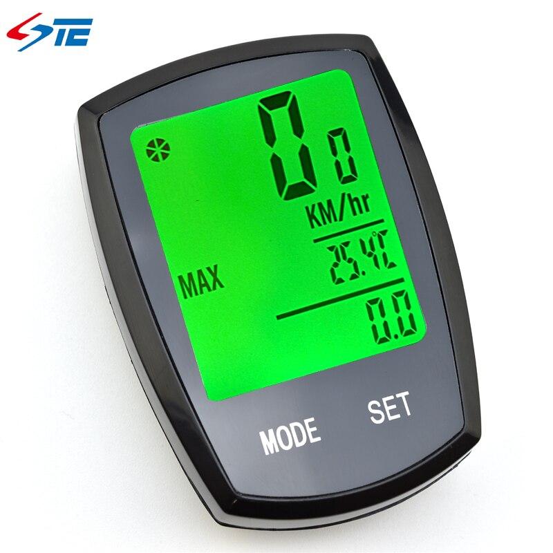 Wireless Bike Speedometer Bicycle Computer Waterproof LED Cycle Cycling Odometer ZMB01
