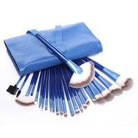 24 Pcs Metal Handle Premiuim Makeup Brushes Set Fondation Eyeliner Lip Eyeshadow Blush Powder Cosmetic Brushes