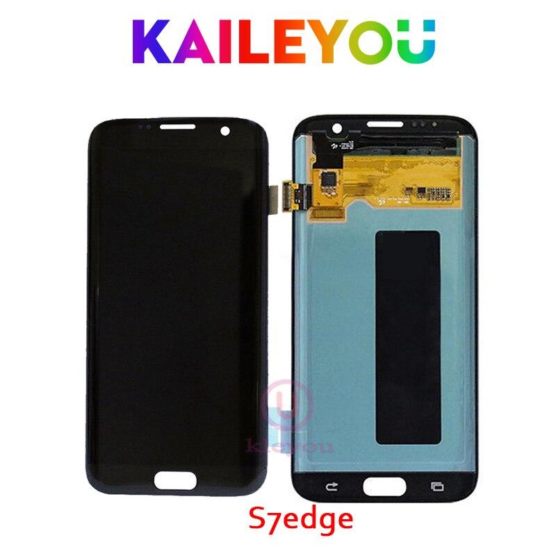 5 pcs Pour SAMSUNG GALAXY S7 BORD G935 G935F LCD Affichage Écran Tactile Digitizer 5.5