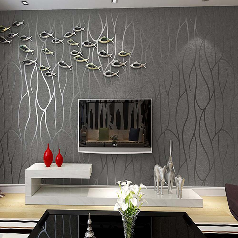 welche tapete wohnzimmer : 3d Vlies Abstrakte Streifen Tapete F R Wohnzimmer Wand Dekor