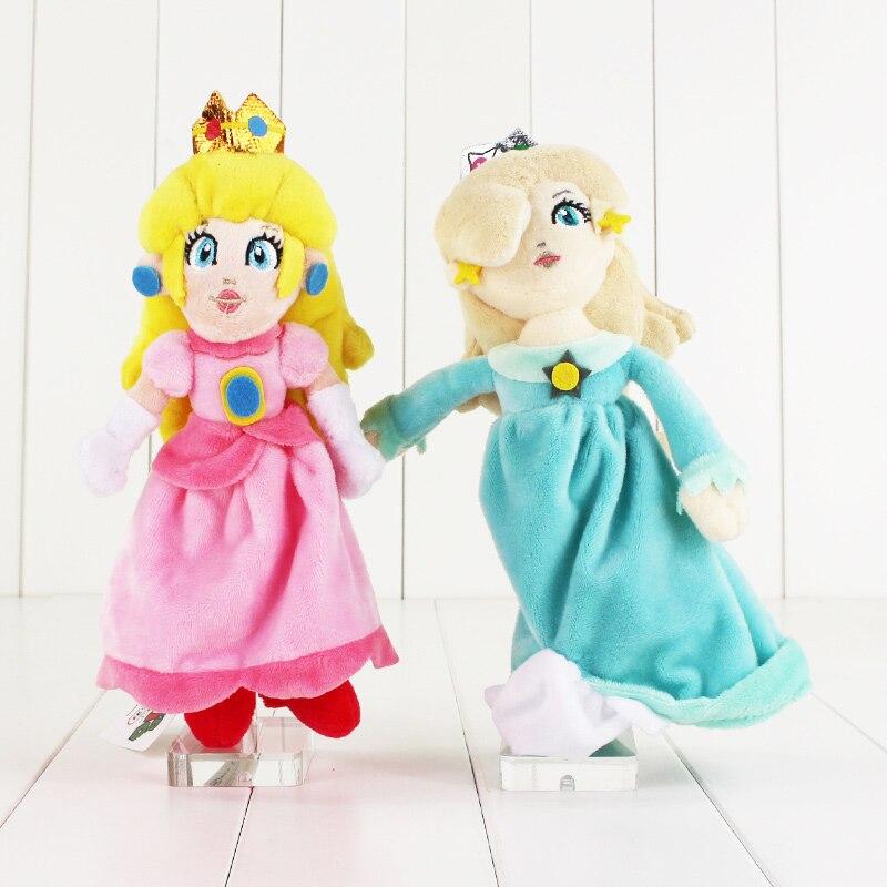 23cm Super Mario Bros Princess Rosalina Peach Princess Plush Toys Dolls Stuffed Toy Girls Doll Toy 2 styles