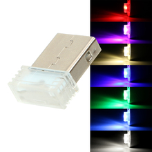 LEEPEE Car LED Atmosphere Lights Mini USB Decorative Lamp Car-styling Universal Emergency Lighting Ambient