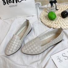 2019 Casual Loafers Women Shoes Summer Autumn Shoes Flats with Hollow Out Ballet Flats Women flats Discounts Fashion 905