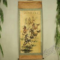 Antique collection Imitation ancient Eight Horse diagram