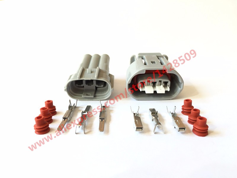 5 Sets 3 Pin Female Male Sumitomo 090 TS Alternator Wire Connector Electrical Connector 6188 0282