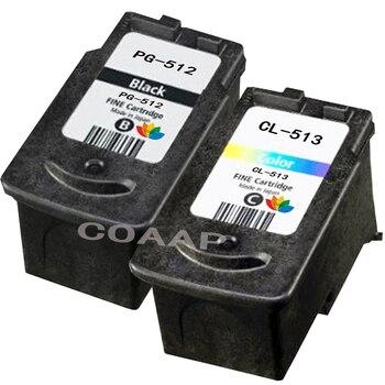 2PK Compatible CANON 512 cartucho de tinta 513 para Canon Pixma MP280 MP282 MP330 MP480 MP490 impresora