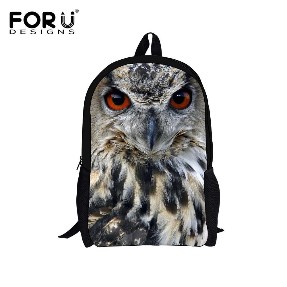 ccacf51725d0 3D Zoo Animals Printing Backpack for Teenagers Girls Women Owl Backpacks  Children School Bags Students Bagpack Kid Child Mochila