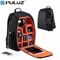 PULUZ Outdoor Portable Waterproof Scratch Proof Dual Shoulders Backpack Camera Bag Digital DSLR Photo Video Bag