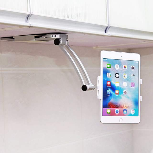 Groovy Us 30 66 2018 Car Phone Holder For Kitchen Tablet Mount Stand 2 In 1 Wall Countertop Fit For 13 4Cm To 19Cm Width And For Iphone 7Plus In Phone Home Interior And Landscaping Palasignezvosmurscom