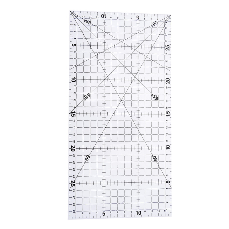 1 Pc School Quiltin Ruler Transparent Patchwork Acrylic Ruler