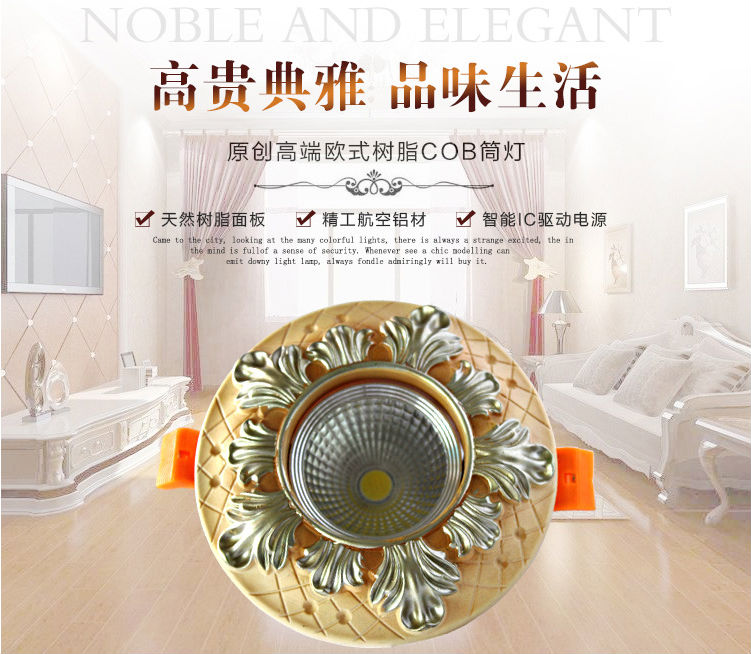 NEW Resin Spotlight Lamparas De Techo Super Bright Recessed Led Ceiling Cob Spot  Light Decoration Ceiling Lamp 85 260v X 50PCS In Downlights From Lights ...