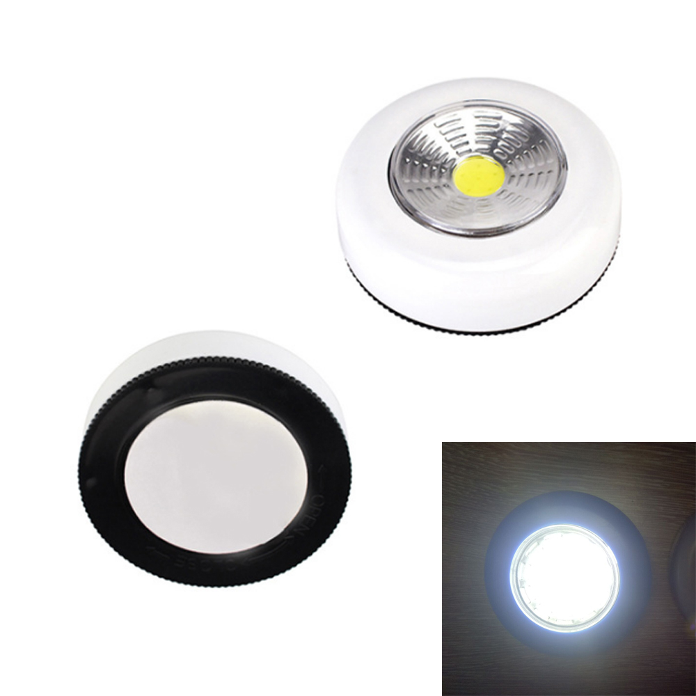 COB LED Night Light Battery Powered Touch Wall Lamp Mini Touch COB Led Nightlamp Emergency Cordless Night Lamp For Stair Closet