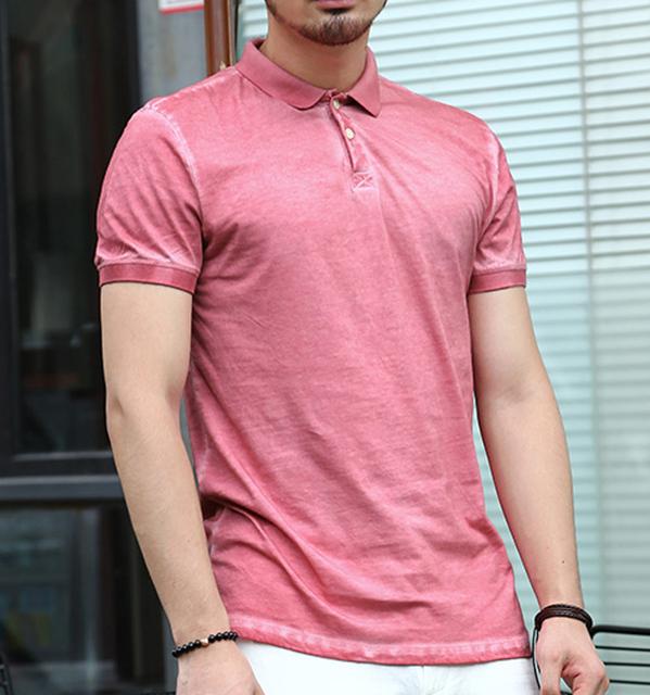 Casual camisa de polo hombres de la marca de moda retro de manga corta de algodón camisa de polo sólido camisetas todos los tamaños slim fit muy santos estilo