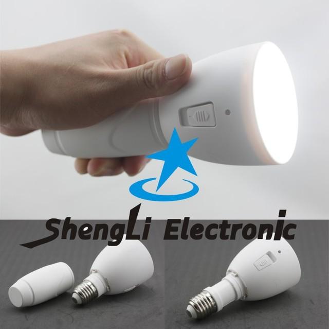 E27 3W Dual purpose LED bulb flashlight scalable Portable Rechargeable LED Energy-saving Emergency Light+Free Shipping