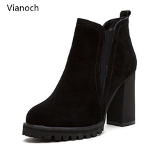 Vianoch New Fashion High Heels Women Sexy Platform Pumps Autumn Shoes Lady Black wo1808139
