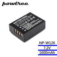 7.2V 1600mAh Li-ion NP-W126 Camera Battery For Fujifilm FinePix HS30EXR HS33EXR X-Pro1 X-E1 X-E2 X-M1 X-A1 X-A2 X-T1 X-T10