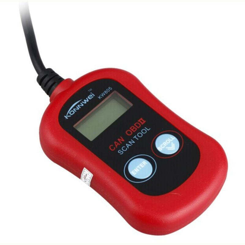 Good Price New Car Diagnostic Tool KONNWEI KW805 MS300 Code Scanner Fault Reader CAN OBD2 OBD II EOBD ENGINE MANAGEMENT free shippinng diy om580 obd scanner automotive obd2 eobd car code reader for engine abs dsc srs fault diagnostic tool