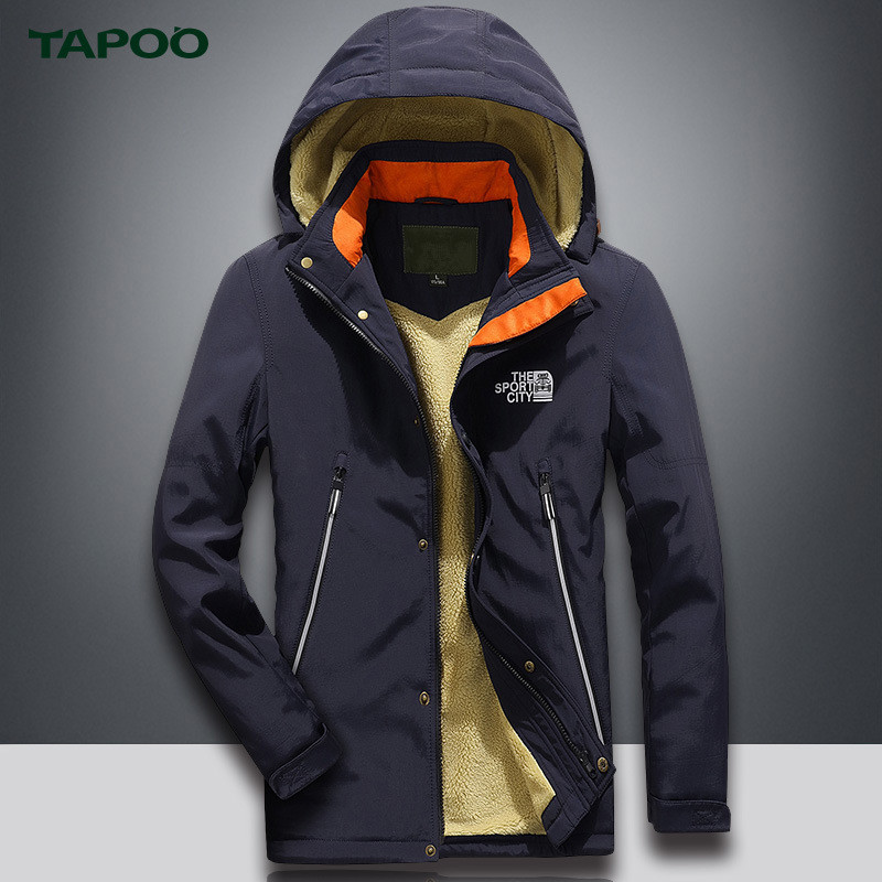 TAPOO Warm Mens Parkas Mens Jacket Casual Outerwear Warm Winnter Coat Men Overcoat Outerwear With Larger Size 4XL 2Colors ...