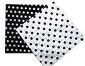 Free Shipping 2016 New Fashion Cotton Black White Polka Dot Bandanas Headwear/Hair Band Scarf For Women/Mens Girl /Boys Kids