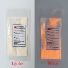 Pigment-Day Glow-In-Dark-Powder Yellow Photoluminescent Color:Orange White Night-Glow
