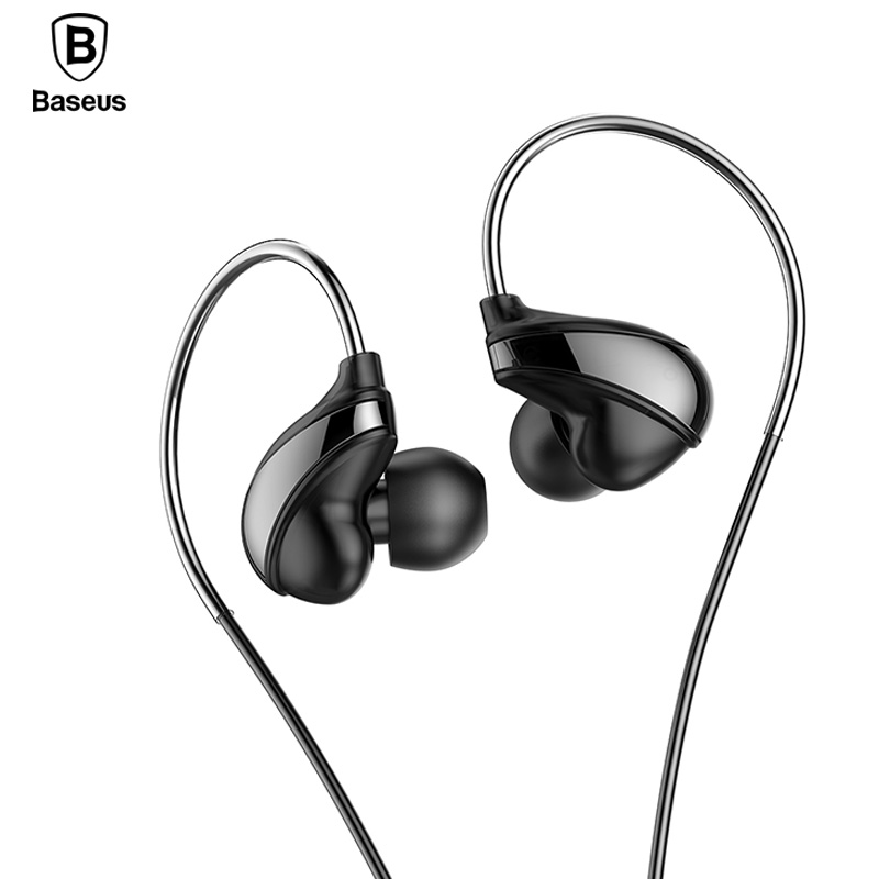 Baseus H05 In-Ear Wired Earphone Headphones Stereo Headset With Mic Earpiece fone de ouvido Earbuds Auriculares baseus h03 in ear wired earphone headphone stereo hifi in line headset with mic for iphone xiaomi fone de ouvido kulakl k