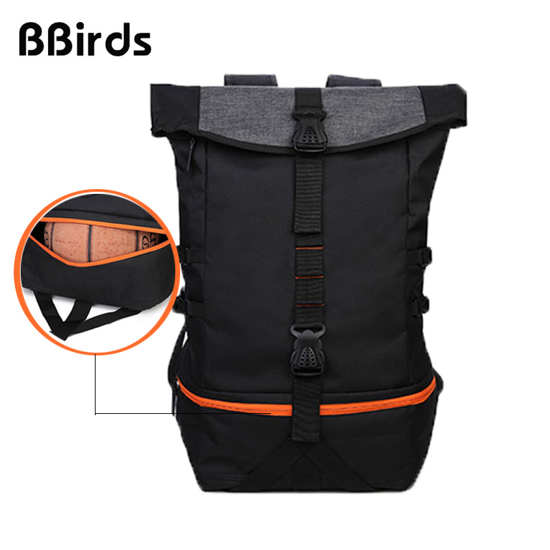 BBirds extensible al aire libre hombres deportes gimnasio bolsas baloncesto  mochila escolar para adolescentes chicos fútbol portátil fútbol 75ac9f81447d9