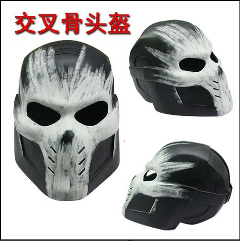 2016 New Movie Captain America 3 Civil War Cosplay Crossbones Helmet Mask PVC Halloween Brock Rumlow Cosplay Helmet for Party image