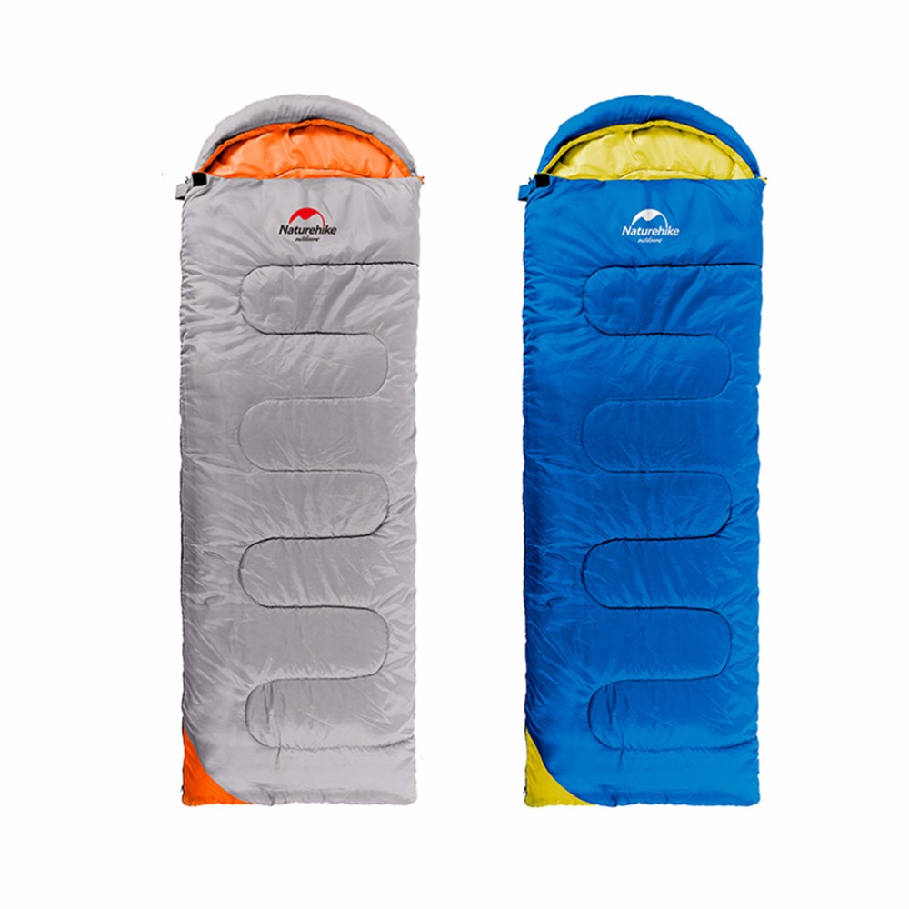 NatureHike Camping Sleeping Bag Adult Tents Cotton Filler Envelope Outdoor Spring Autumn Hiking Bag 2.2*0.75M Well Sell naturehike envelope shaped sleeping bag cotton portable outdoor travel camping hiking sleeping bag for adult with carry bag