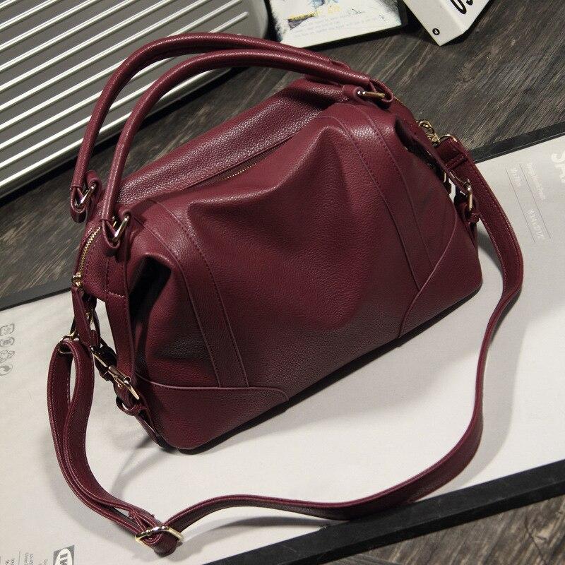 882495e22d Soft Leather Handbags Big Vintage Tote Shoulder Bag Girl Hobos Bags Trendy Shoulder  Bags Messenger Crossbody bag 6N06-07