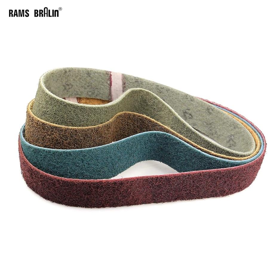 1 Piece 915*50mm Non-woven Nylon Abrasive Sanding Belt For Metal Coarse Grinding To Fine Polishing