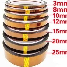 33 м 100 футов клейкая лента Золото высокая температура термостойкая полиимидная лента для электронной промышленности BGA кран высокое качество