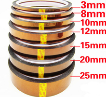 33m 100ft Adhesive Tape Gold High Temperature Heat Resistant Polyimide Tape for Electronic Industry BGA Tap High quality